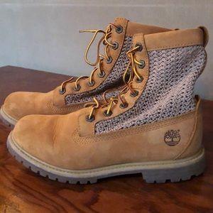 Women's Timberland anti-fatigue boots.